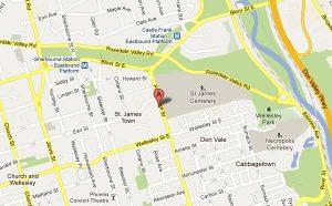 VA3XPR amateur radio repeater ham Toronto google map St. Jamestown