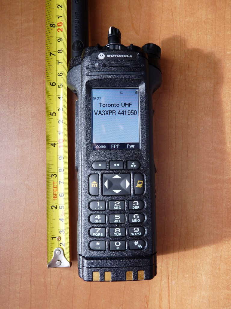 APX 7000 APX7000 Motorola dual band radio portable VA3XPR review height