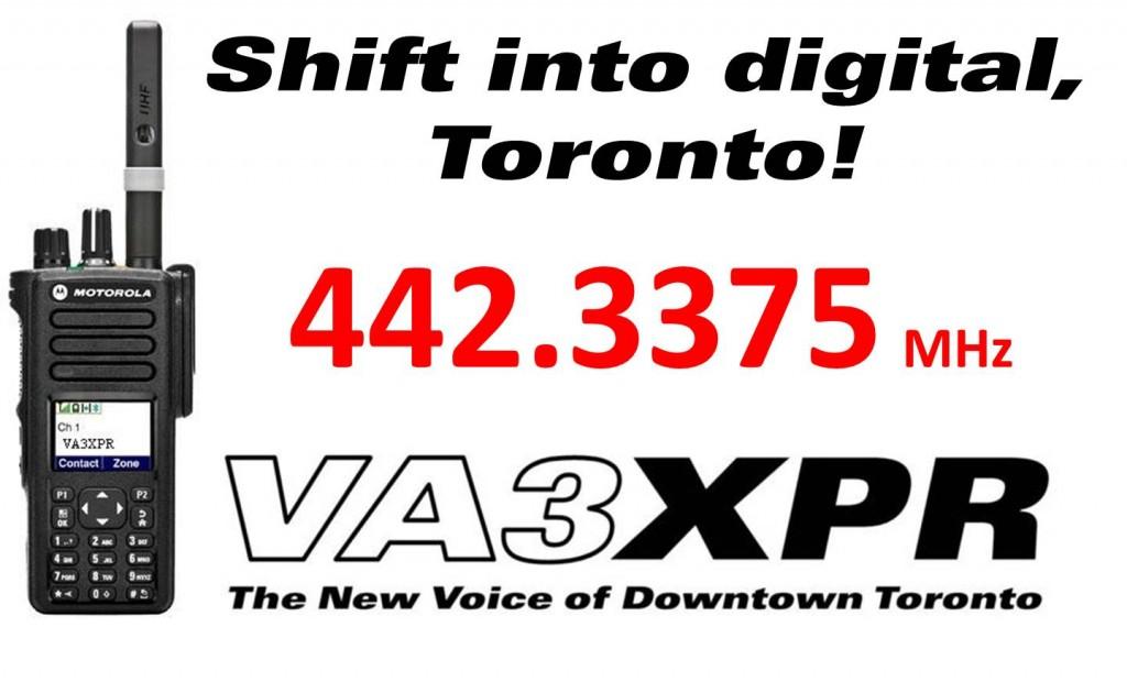 VA3XPR DMR MOTOTRBO Motorola amateur radio ham Toronto digital mobile