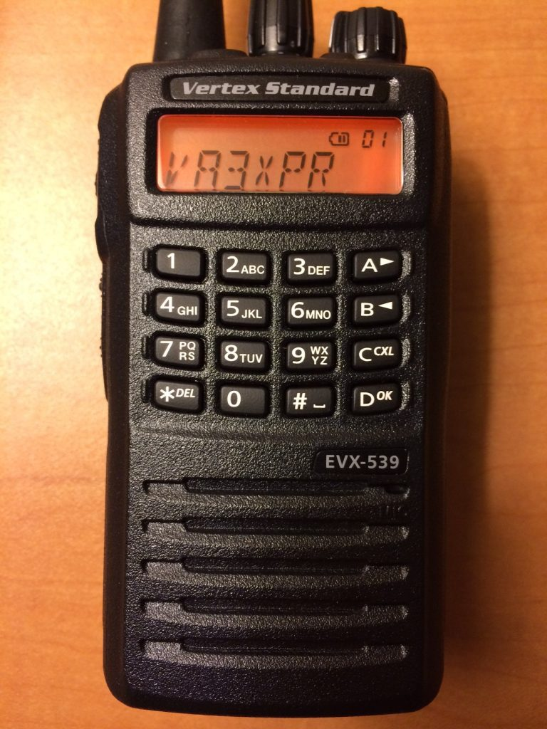Vertex Standard, Vertex, Standard, eVerge, EVX-539, EVX539, digital mobile radio, DMR, portable, radio, ham radio, amateur radio, VA3XPR, review, reviews, keyboard, keypad, LCD,, handie talkie