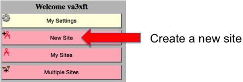 Create a Site