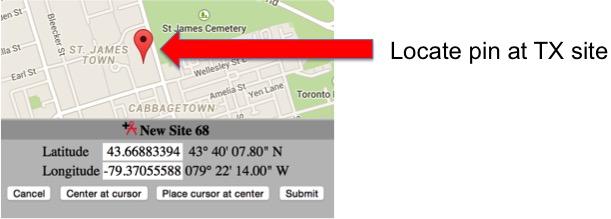 Site map plot