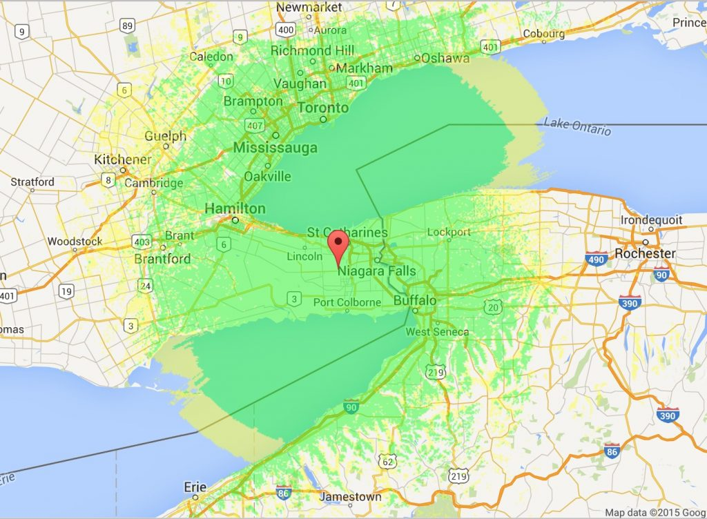 VE3XPR VA3XPR coverage map Foothill Ontario ham radio repeater RF