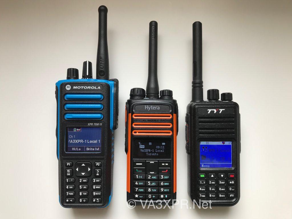 Motorola XPR7550 IS Hytera TD580 TYT MD-380 UHF DMR radio ham