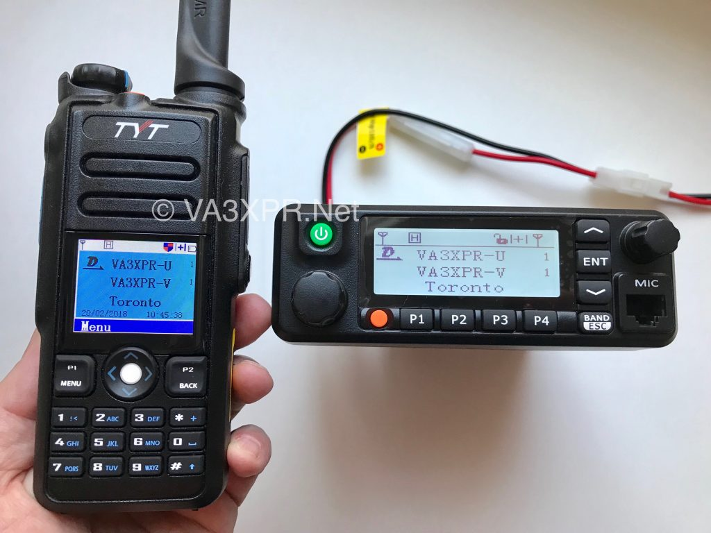 TYT MD-9600 MD-2017 dual band DMR portable mobile ham